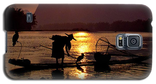 Fishing With Cormorants Galaxy S5 Case