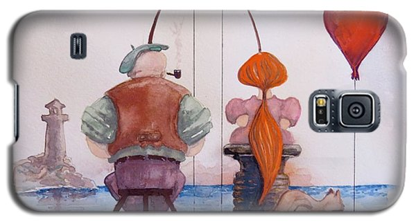 Fishing With Grandpa Galaxy S5 Case by Geni Gorani