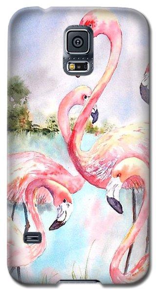 Five Flamingos Galaxy S5 Case