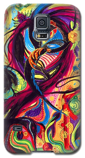 Galaxy S5 Case featuring the painting Raven Masquerade by Marina Petro