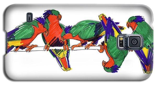 Five Rimatara Lorikeets Galaxy S5 Case