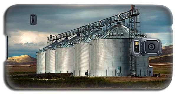 Five Silos On The Plains Of The Texas Panhandle Galaxy S5 Case by MaryJane Armstrong