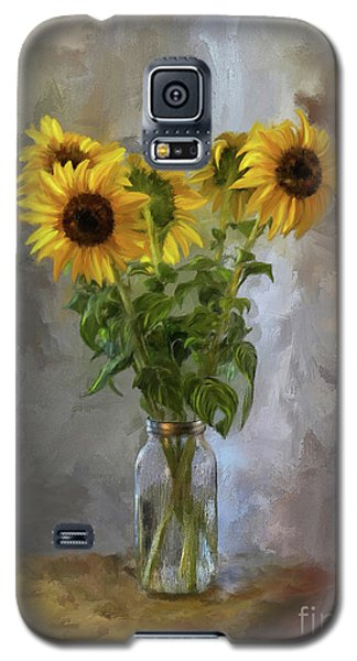 Five Sunflowers Centered Galaxy S5 Case