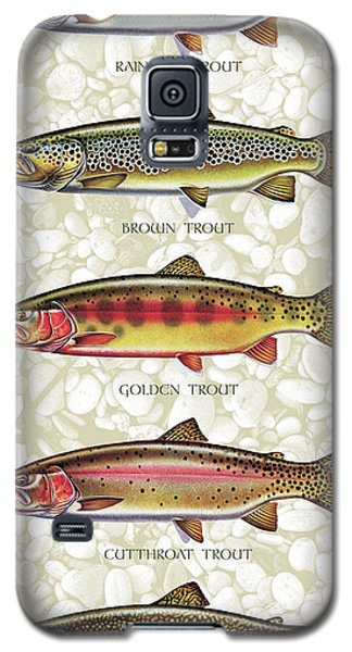 Five Trout Panel Galaxy S5 Case by JQ Licensing