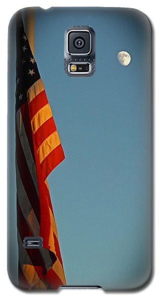 Flag And The Moon Galaxy S5 Case