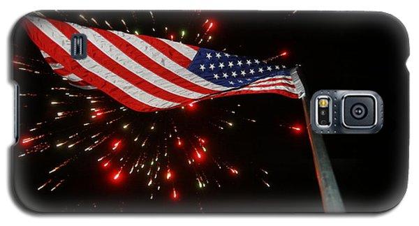 Flag In All Its Fiery Glory Galaxy S5 Case by Shirley Heier