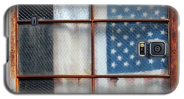 Flag In Old Window Galaxy S5 Case