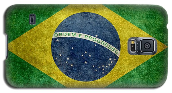 Galaxy S5 Case featuring the digital art Flag Of Brazil Vintage 18x24 Crop Version by Bruce Stanfield