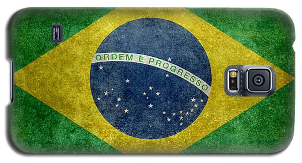 Flag Of Brazil Vintage 18x24 Crop Version Galaxy S5 Case by Bruce Stanfield