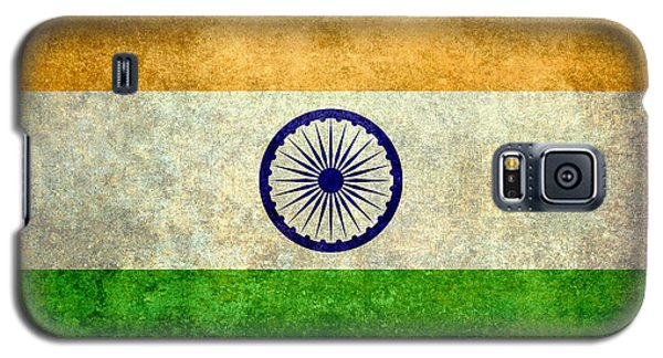 Flag Of India Vintage 18x24 Crop Version Galaxy S5 Case by Bruce Stanfield
