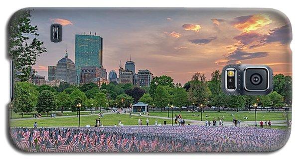 Flag Sunset On Boston Common Galaxy S5 Case