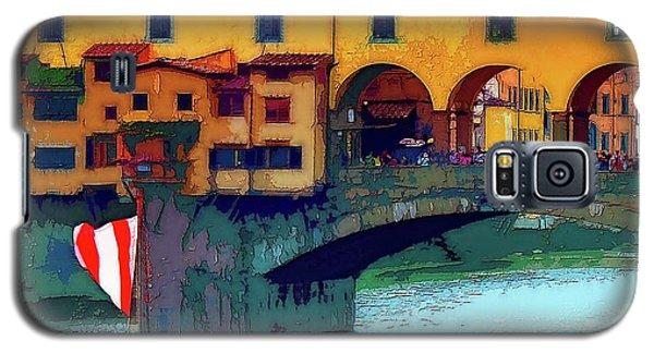 Flags At Ponte Vecchio Bridge Galaxy S5 Case