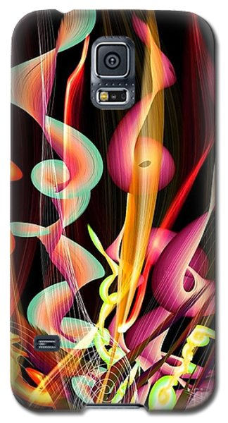 Galaxy S5 Case featuring the digital art Flame By Nico Bielow by Nico Bielow