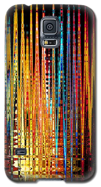Galaxy S5 Case featuring the digital art Flame Lines by Francesa Miller