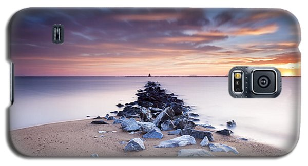 Galaxy S5 Case featuring the photograph Flame On The Horizon by Edward Kreis