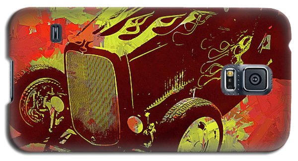 Flamed 1932 Ford Roadster Hot Rod Pop Red Galaxy S5 Case