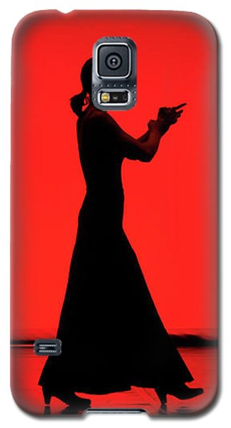 Flamenco Red An Black Spanish Passion For Dance And Rithm Galaxy S5 Case by Pedro Cardona