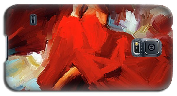 Galaxy S5 Case featuring the painting Flamenco Dance 7750 by Gull G