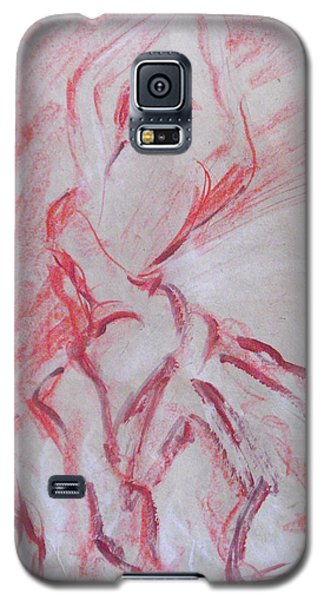 Galaxy S5 Case featuring the painting Flamenco Dancer 1 by Koro Arandia