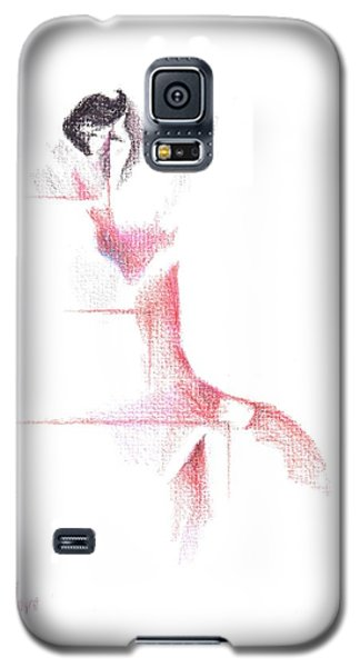 Galaxy S5 Case featuring the painting Flamenco Geometric Cc101 by Kip DeVore