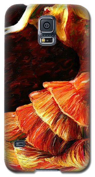Galaxy S5 Case featuring the painting Flamenco Poise 2 by James Shepherd