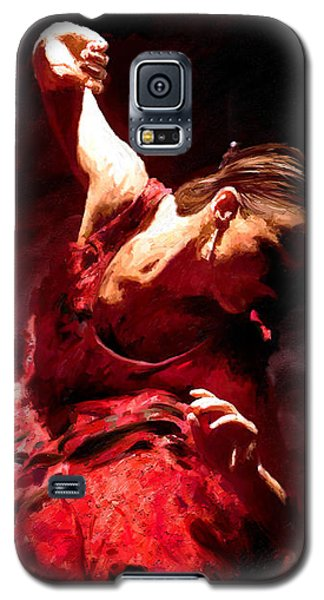 Galaxy S5 Case featuring the painting Flamenco Poise by James Shepherd