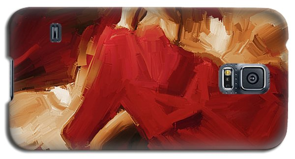 Galaxy S5 Case featuring the painting Flamenco Spanish Dance Painting 01 by Gull G
