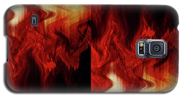 Galaxy S5 Case featuring the digital art Flames by Cherie Duran