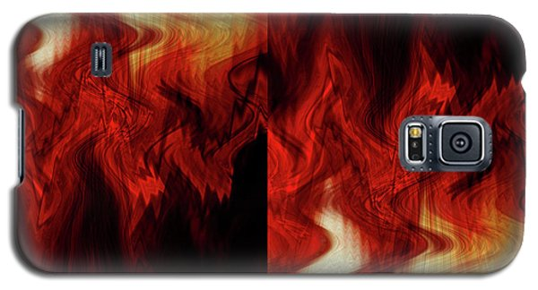 Flames Galaxy S5 Case by Cherie Duran
