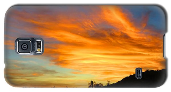 Flaming Hand Sunset Galaxy S5 Case
