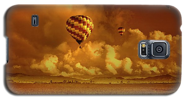 Galaxy S5 Case featuring the photograph Flaming Sky by Charuhas Images