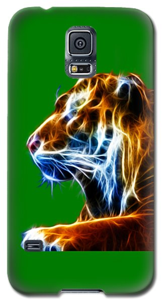 Flaming Tiger Galaxy S5 Case by Shane Bechler