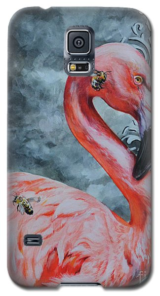 Flamingo And Bees Galaxy S5 Case