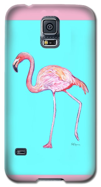Flamingo On Blue Galaxy S5 Case