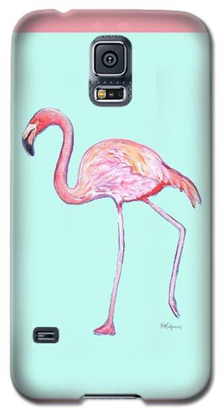 Flamingo On Mint Background Galaxy S5 Case