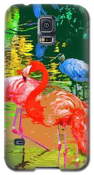 Flamingo Time Galaxy S5 Case by Josy Cue