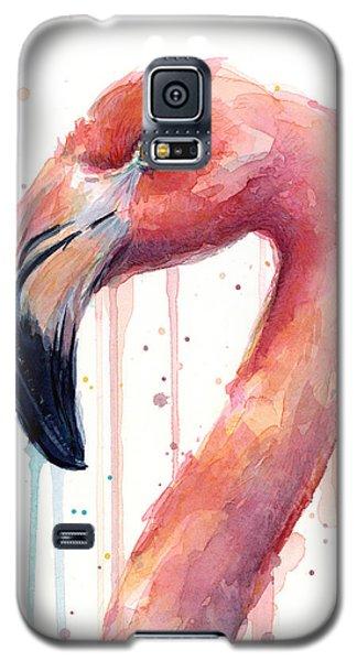 Flamingo Watercolor Illustration Galaxy S5 Case
