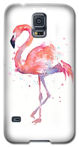 Flamingo Watercolor Galaxy S5 Case by Olga Shvartsur