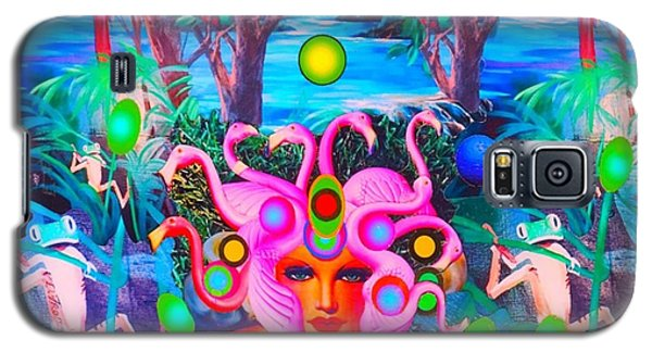 Flamingodeusa In The Neon Jungle Galaxy S5 Case by Douglas Fromm