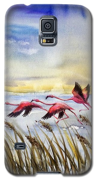 Flamingoes Flight Galaxy S5 Case