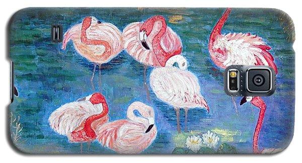 Flamingos Diptich Right Galaxy S5 Case