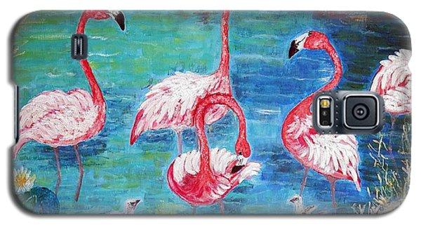 Flamingos Diptich Left Galaxy S5 Case
