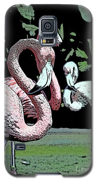 Galaxy S5 Case featuring the photograph Flamingos II by Jim and Emily Bush