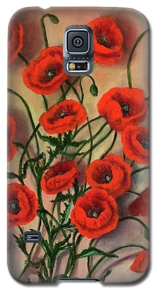 Flander Poppies Galaxy S5 Case
