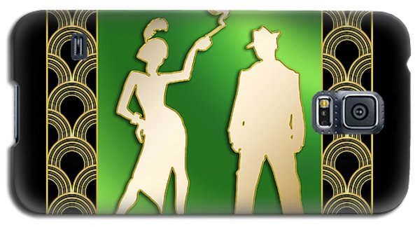 Galaxy S5 Case featuring the digital art Flapper And The Gangster by Chuck Staley