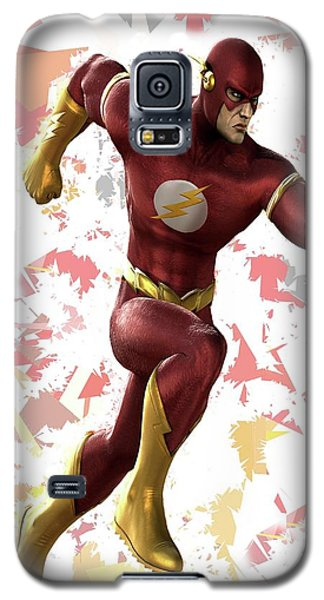 Galaxy S5 Case featuring the mixed media Flash Splash Super Hero Series by Movie Poster Prints