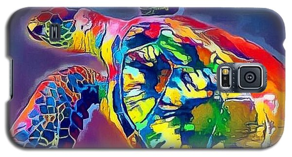 Galaxy S5 Case featuring the digital art Flash The Turtle by Erika Swartzkopf