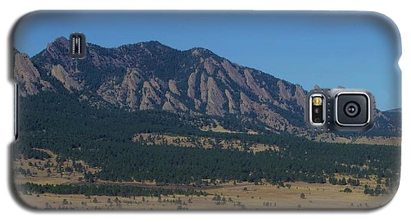Galaxy S5 Case featuring the photograph Flatirons Of Boulder by Christopher Kirby