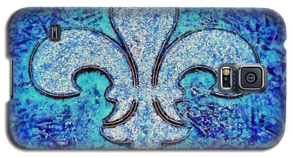 Fleur De Lis Blue Ice Galaxy S5 Case