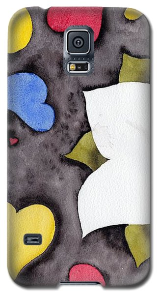 Galaxy S5 Case featuring the painting Fleur Et Coeurs by Marc Philippe Joly